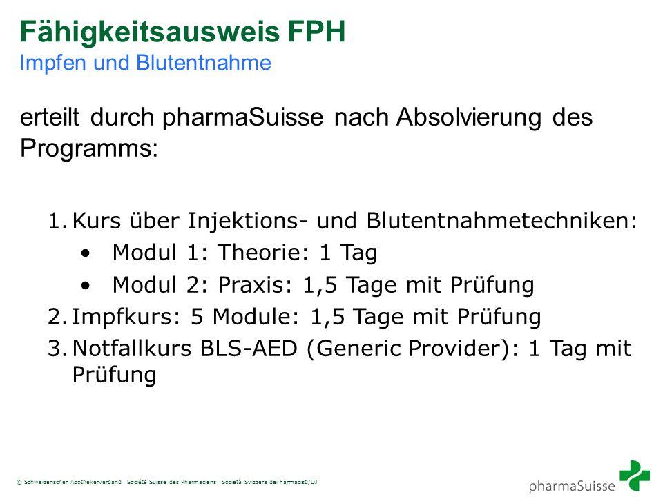Fähigkeitsausweis FPH Impfen und Blutentnahme