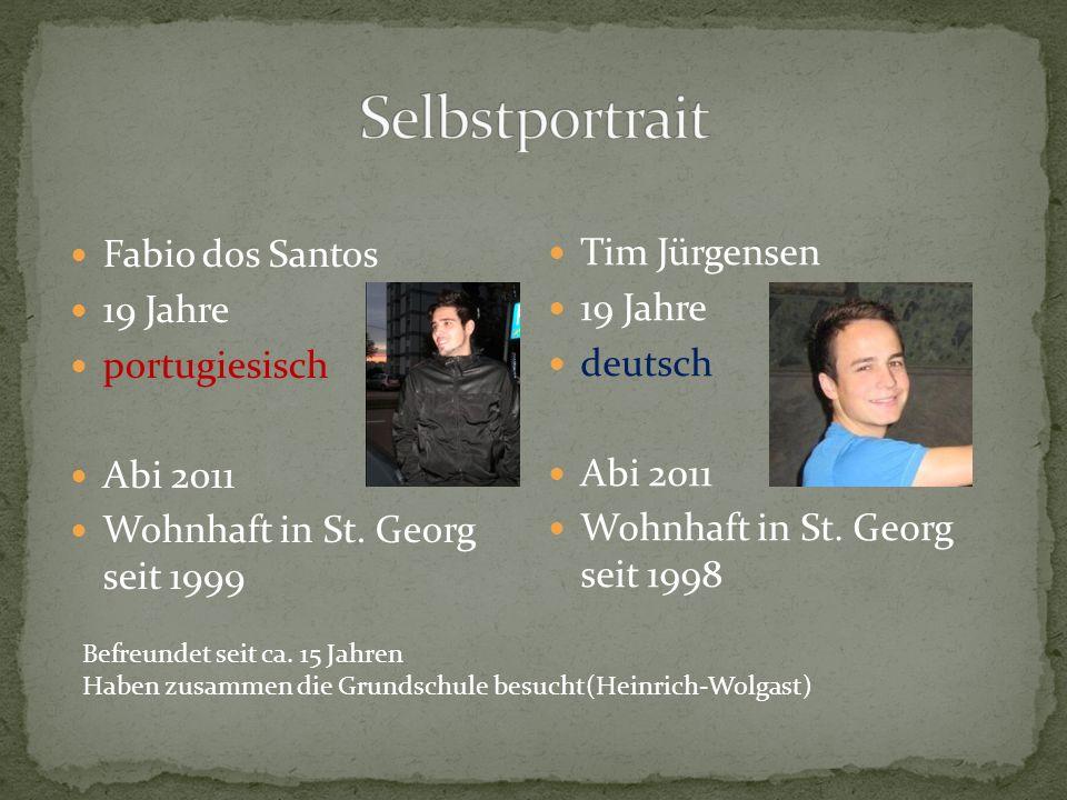 Selbstportrait Fabio dos Santos Tim Jürgensen 19 Jahre 19 Jahre