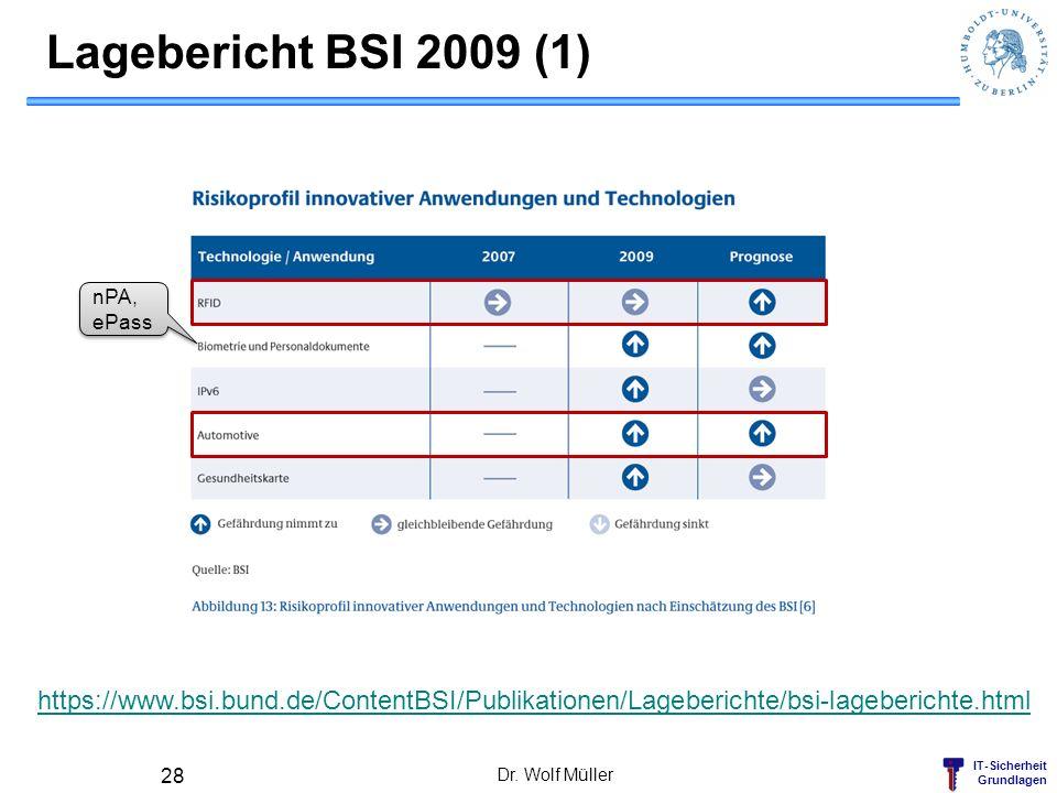 Lagebericht BSI 2009 (1) nPA, ePass. https://www.bsi.bund.de/ContentBSI/Publikationen/Lageberichte/bsi-lageberichte.html.
