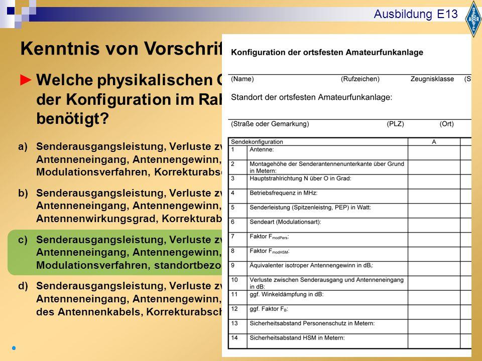 Kenntnis von Vorschriften: EMVU Frage VI112
