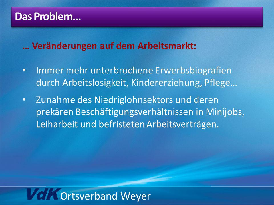 VdK Ortsverband Weyer Das Problem…
