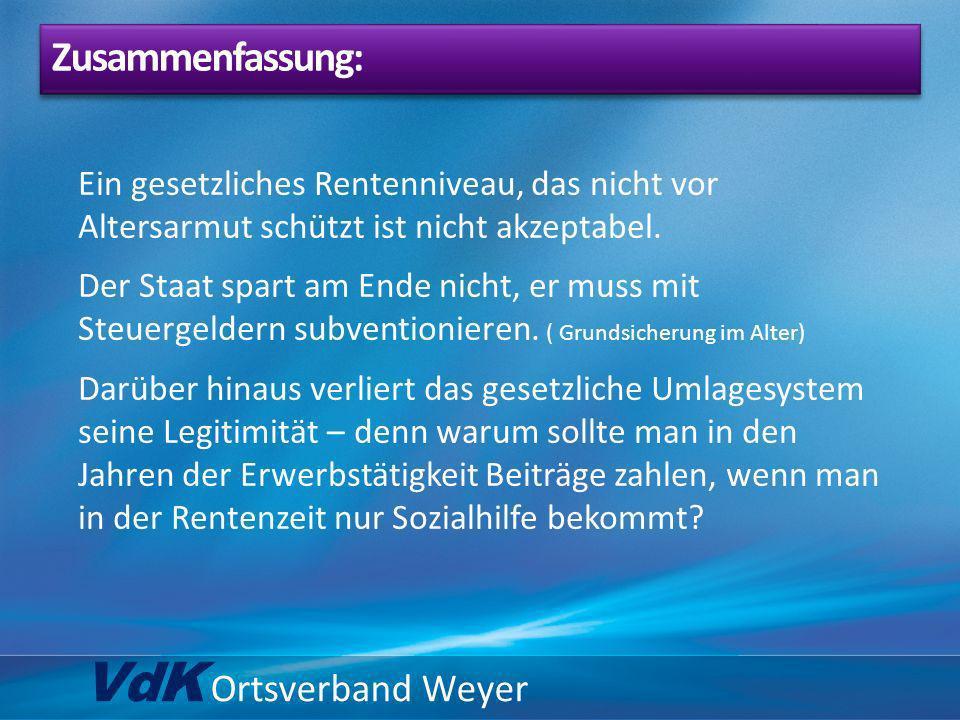 VdK Ortsverband Weyer Zusammenfassung: