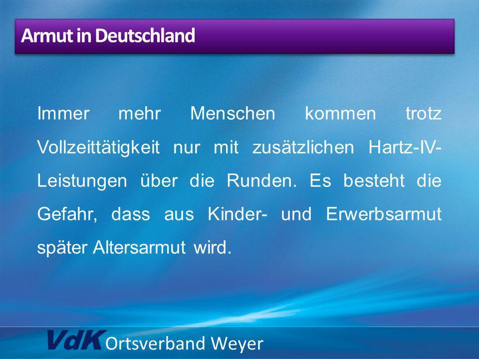 VdK Ortsverband Weyer Armut in Deutschland