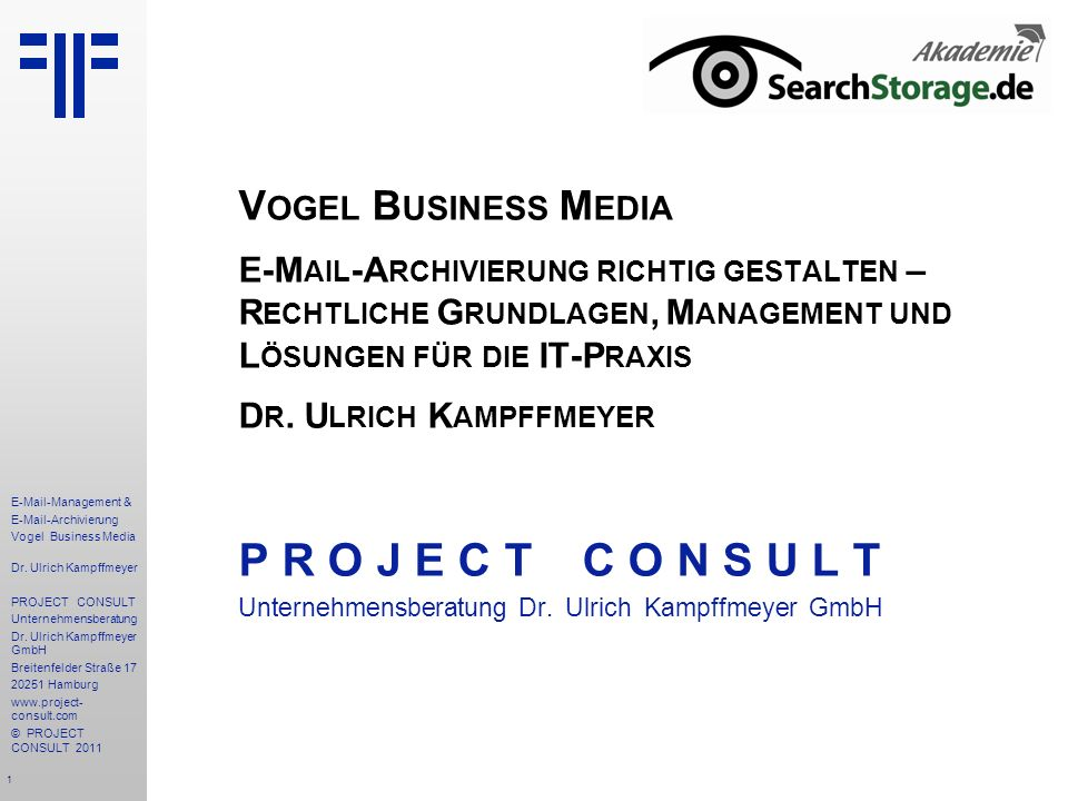 P R O J E C T C O N S U L T Vogel Business Media