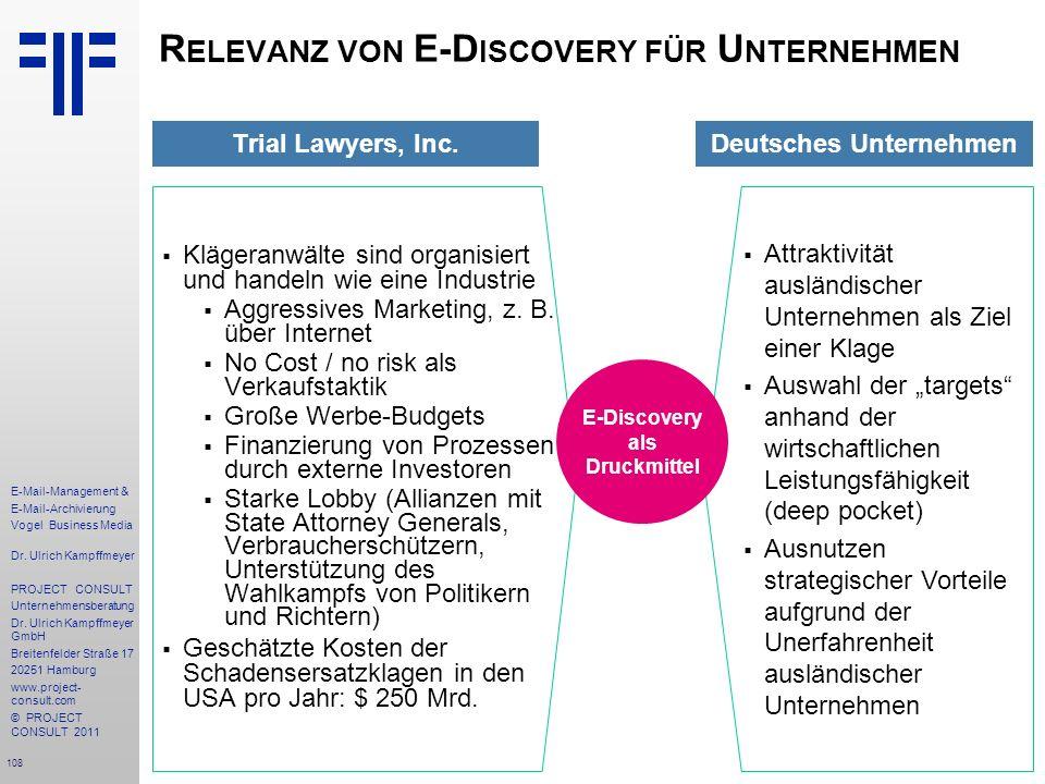 Relevanz von E-Discovery für Unternehmen