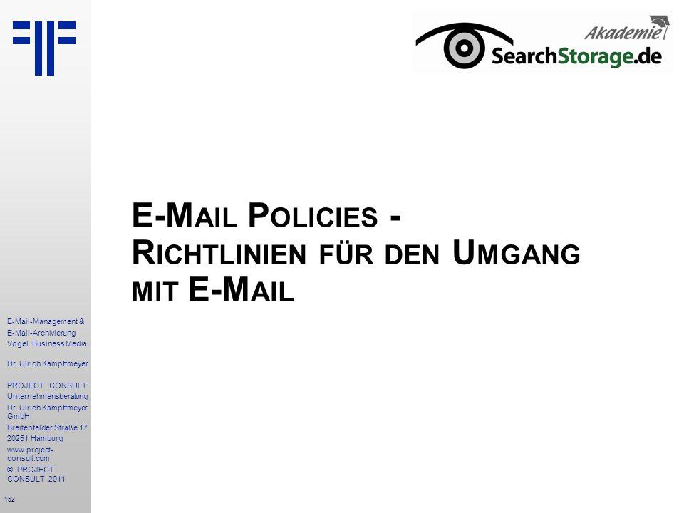 E-Mail Policies - Richtlinien für den Umgang mit E-Mail