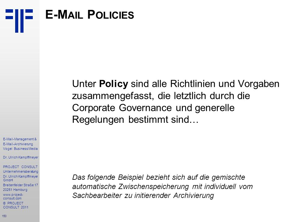 E-Mail Policies