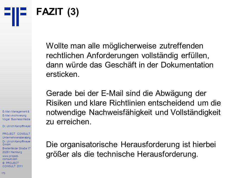 FAZIT (3)