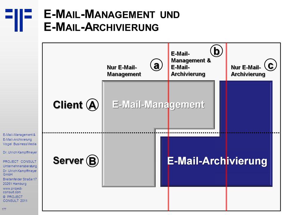 E-Mail-Management und E-Mail-Archivierung