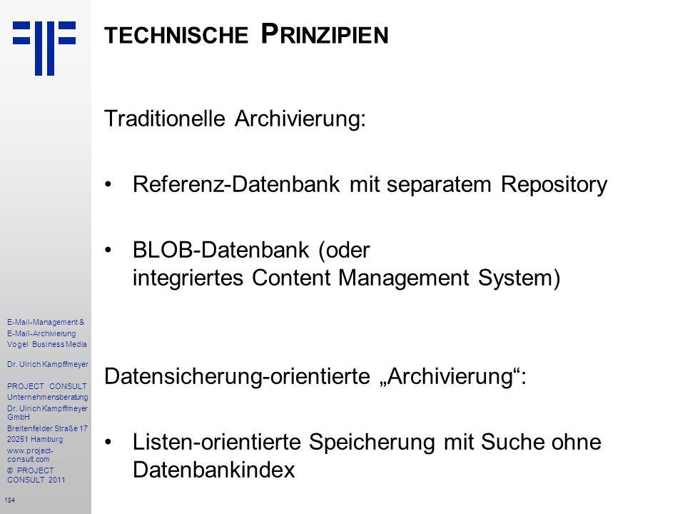 technische Prinzipien
