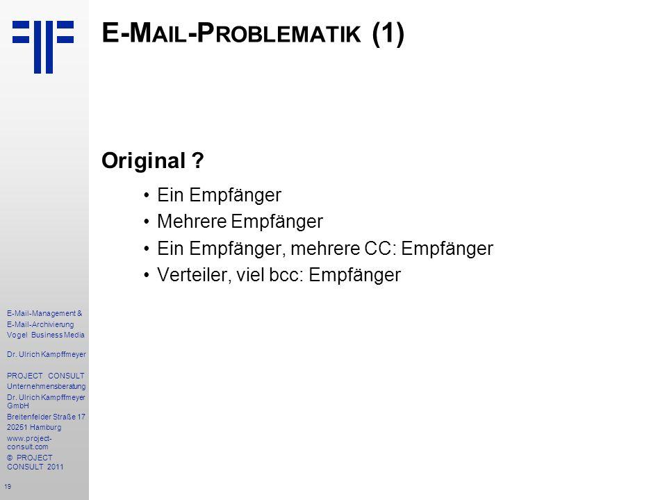 E-Mail-Problematik (1)