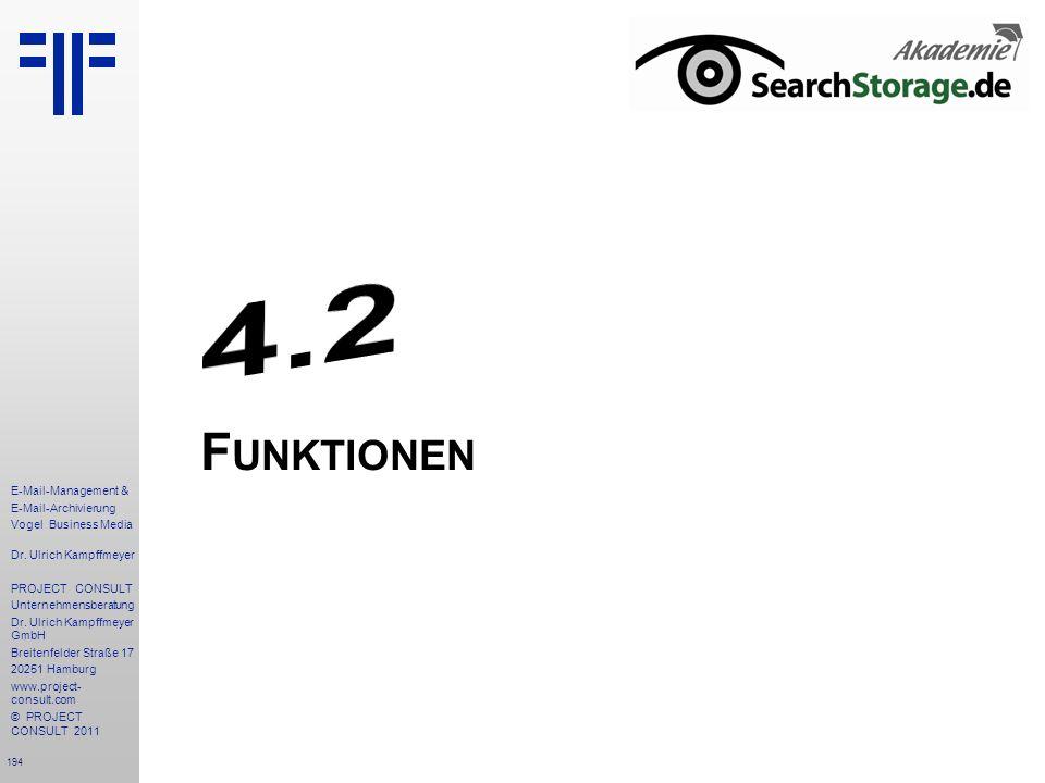 4.2 Funktionen