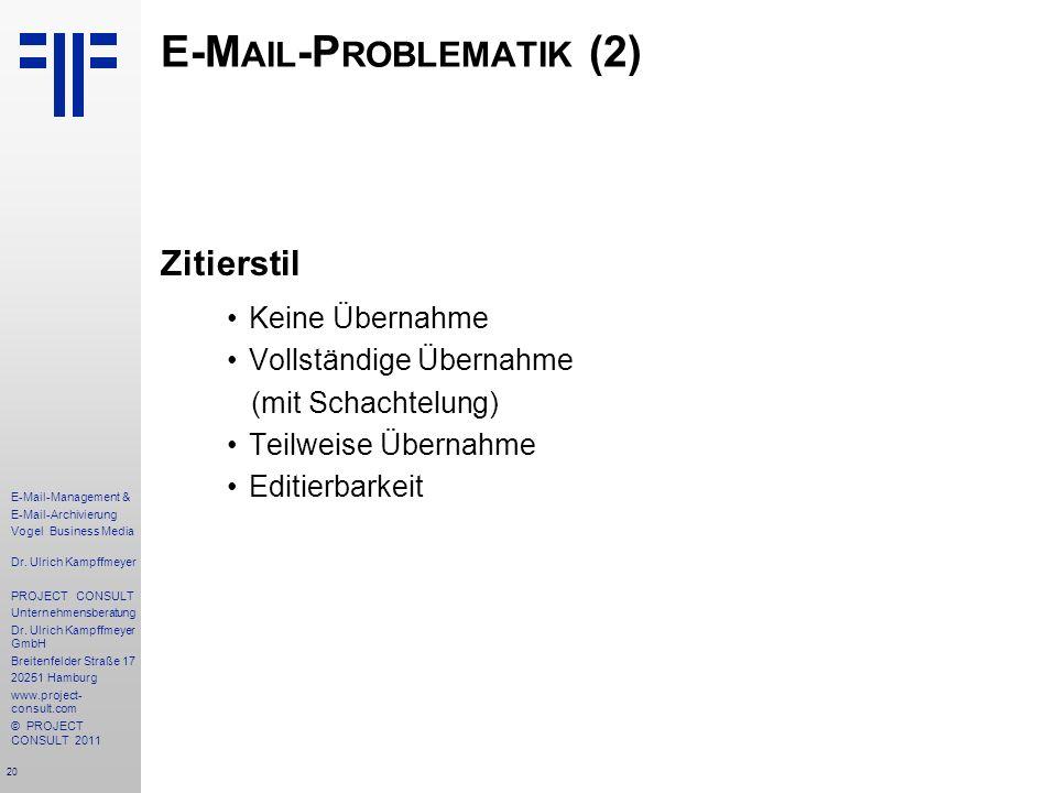 E-Mail-Problematik (2)