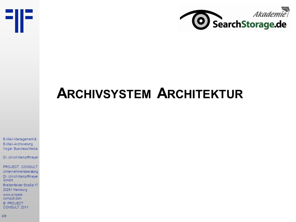 Archivsystem Architektur