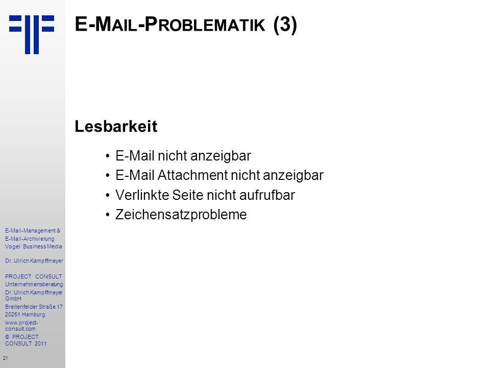 E-Mail-Problematik (3)