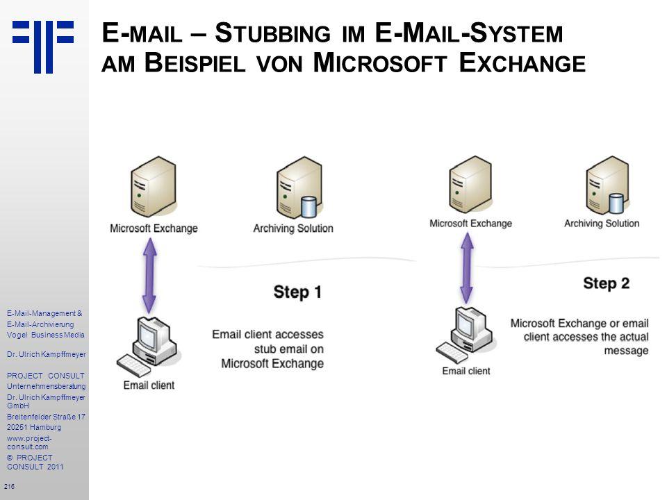 E-mail – Stubbing im E-Mail-System am Beispiel von Microsoft Exchange
