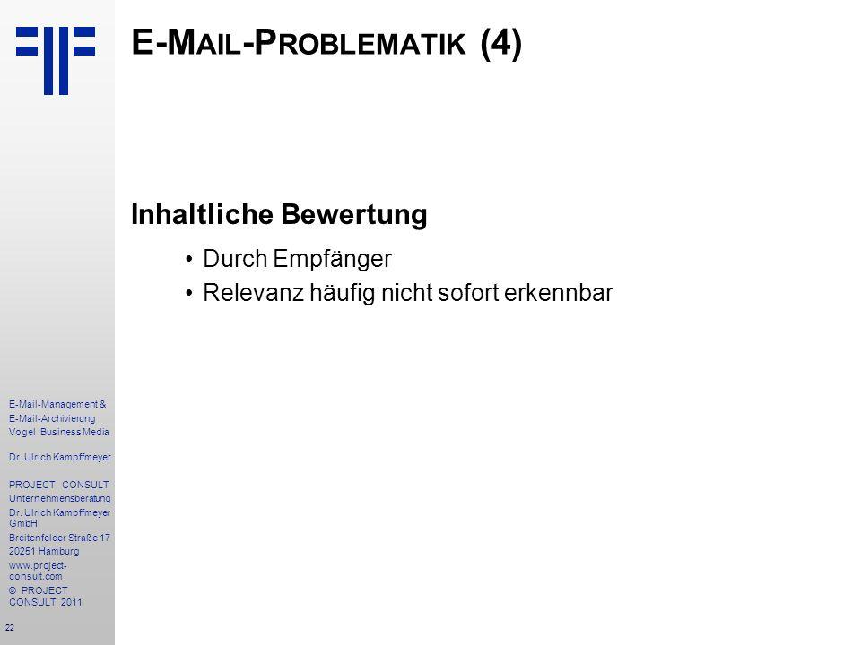 E-Mail-Problematik (4)