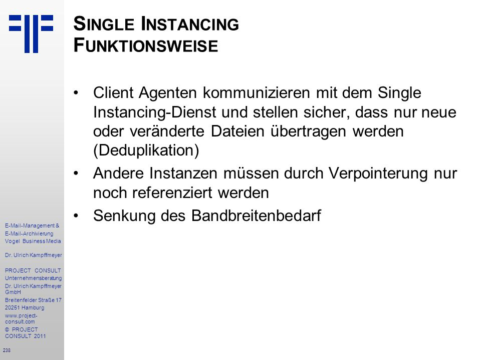Single Instancing Funktionsweise