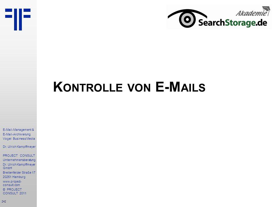 Kontrolle von E-Mails