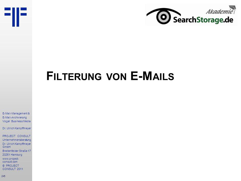 Filterung von E-Mails