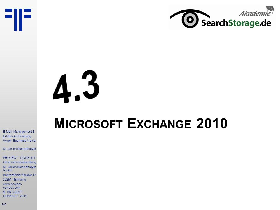 4.3 Microsoft Exchange 2010