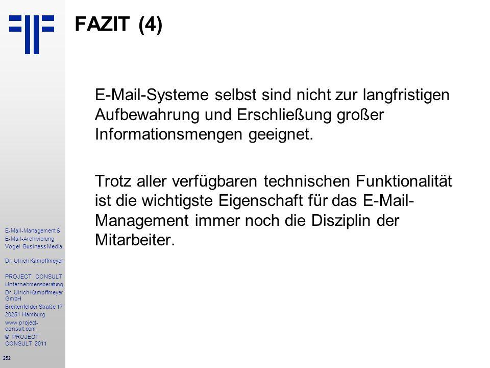 FAZIT (4)