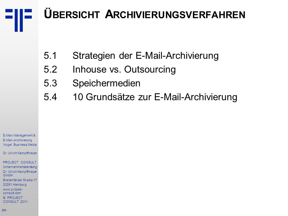 Übersicht Archivierungsverfahren