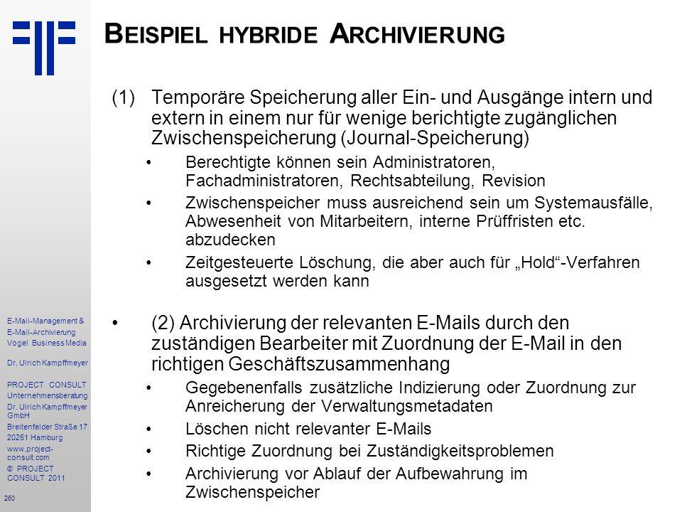 Beispiel hybride Archivierung