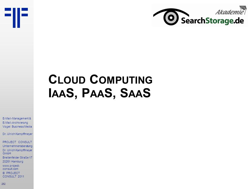 Cloud Computing IaaS, PaaS, SaaS