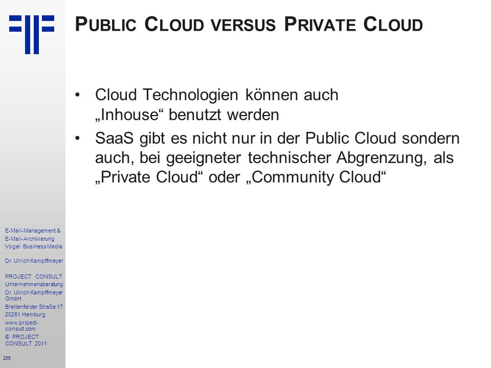 Public Cloud versus Private Cloud
