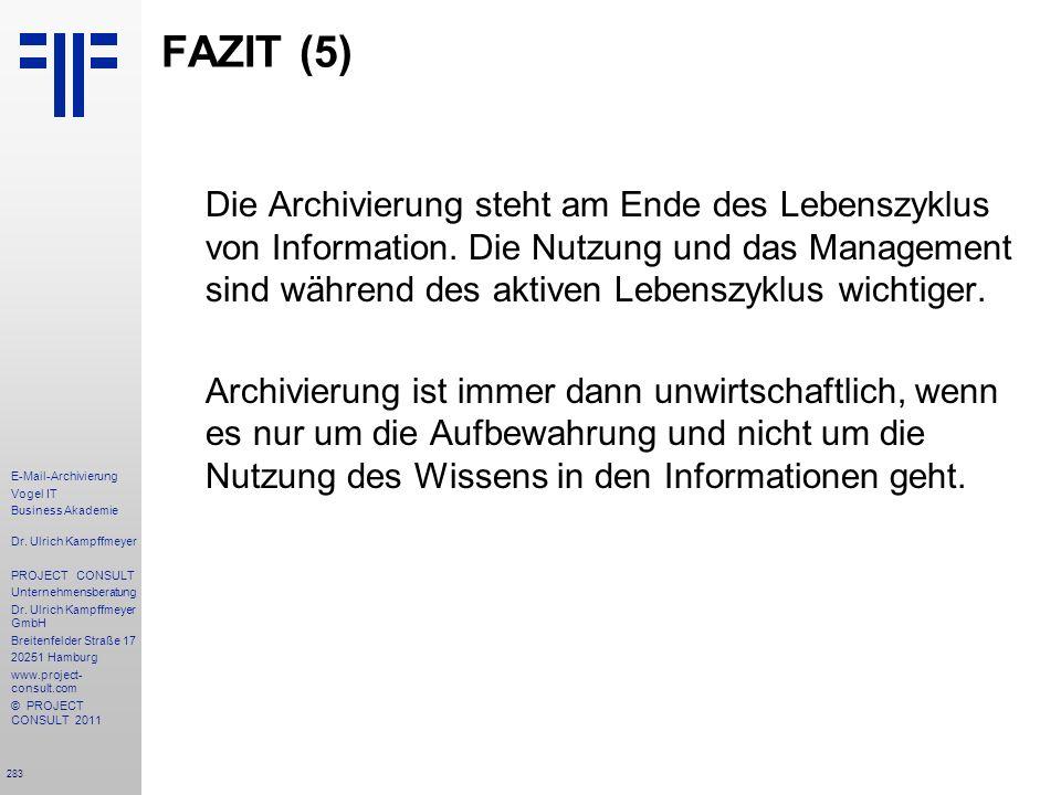 FAZIT (5)