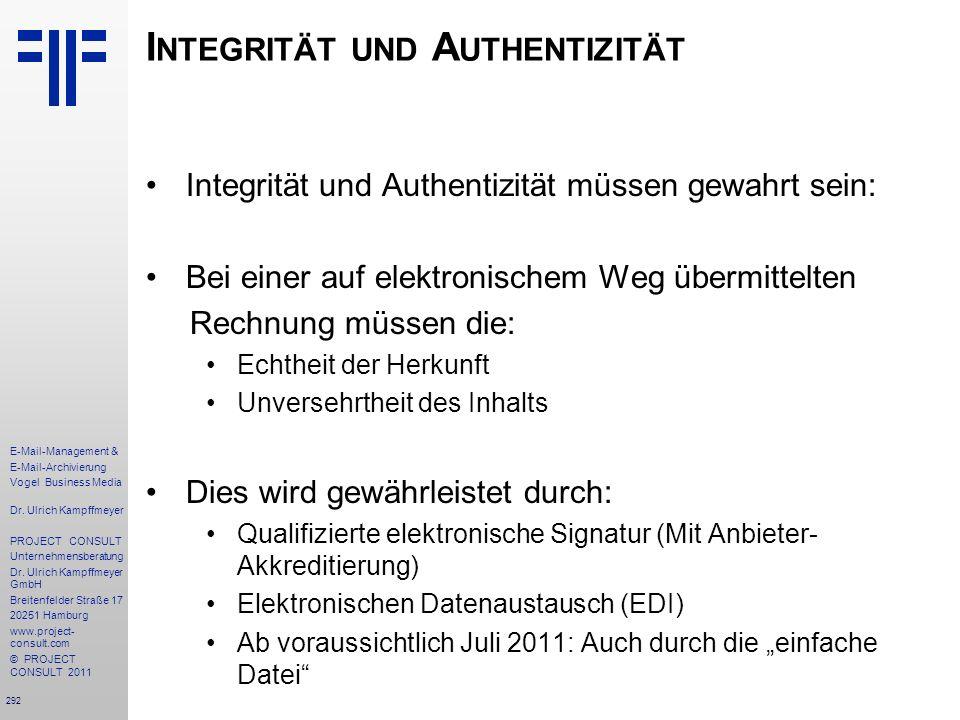 Integrität und Authentizität