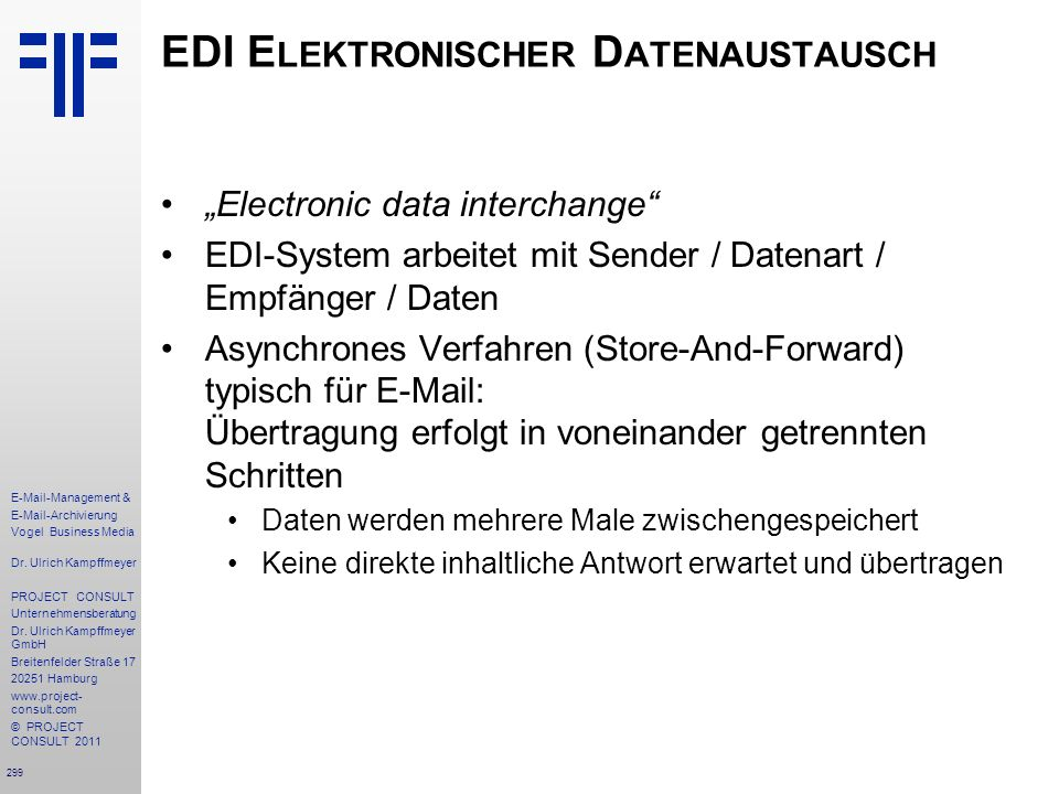 EDI Elektronischer Datenaustausch