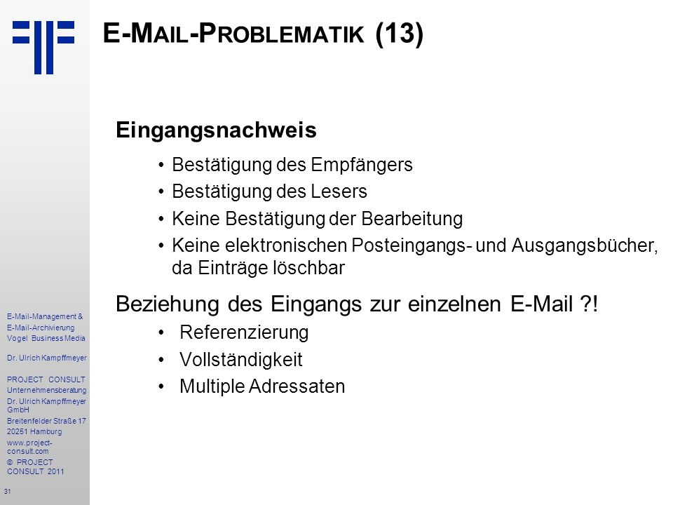 E-Mail-Problematik (13)