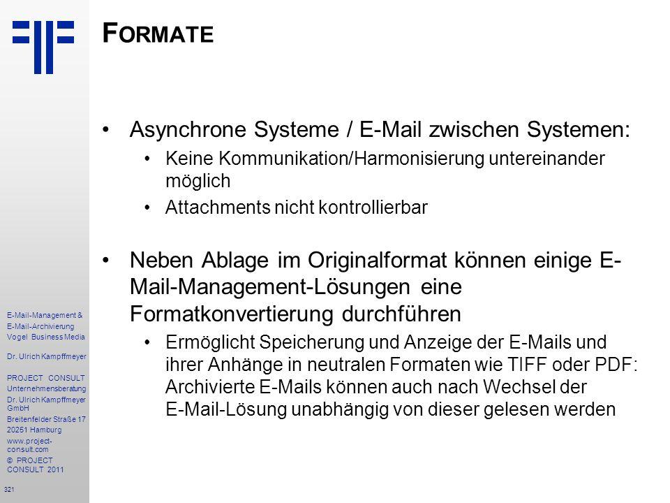 Formate Asynchrone Systeme / E-Mail zwischen Systemen: