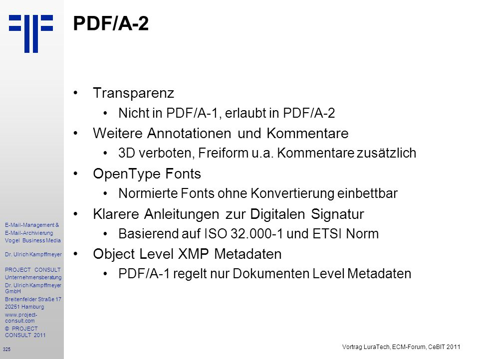 PDF/A-2 Transparenz • Weitere Annotationen und Kommentare