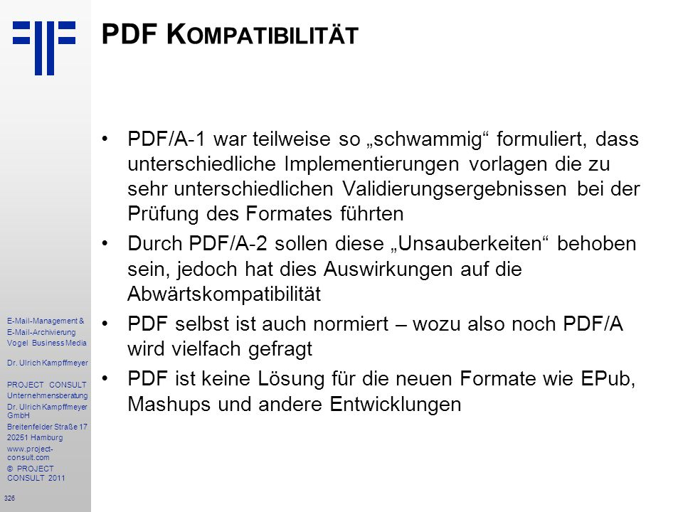 PDF Kompatibilität