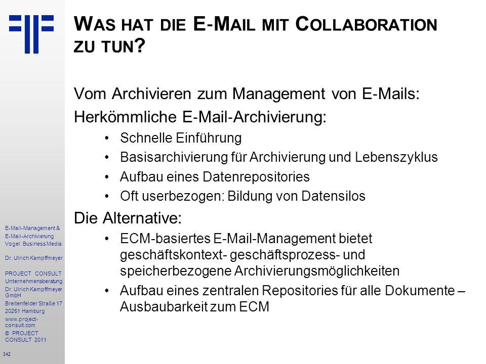 Was hat die E‐Mail mit Collaboration zu tun