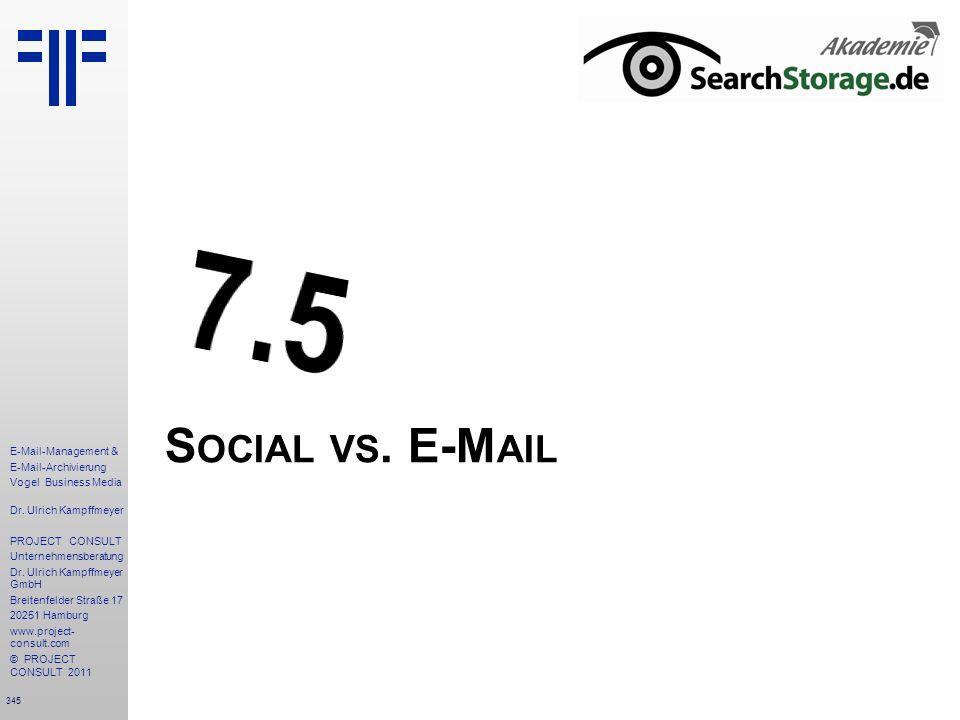 7.5 Social vs. E-Mail