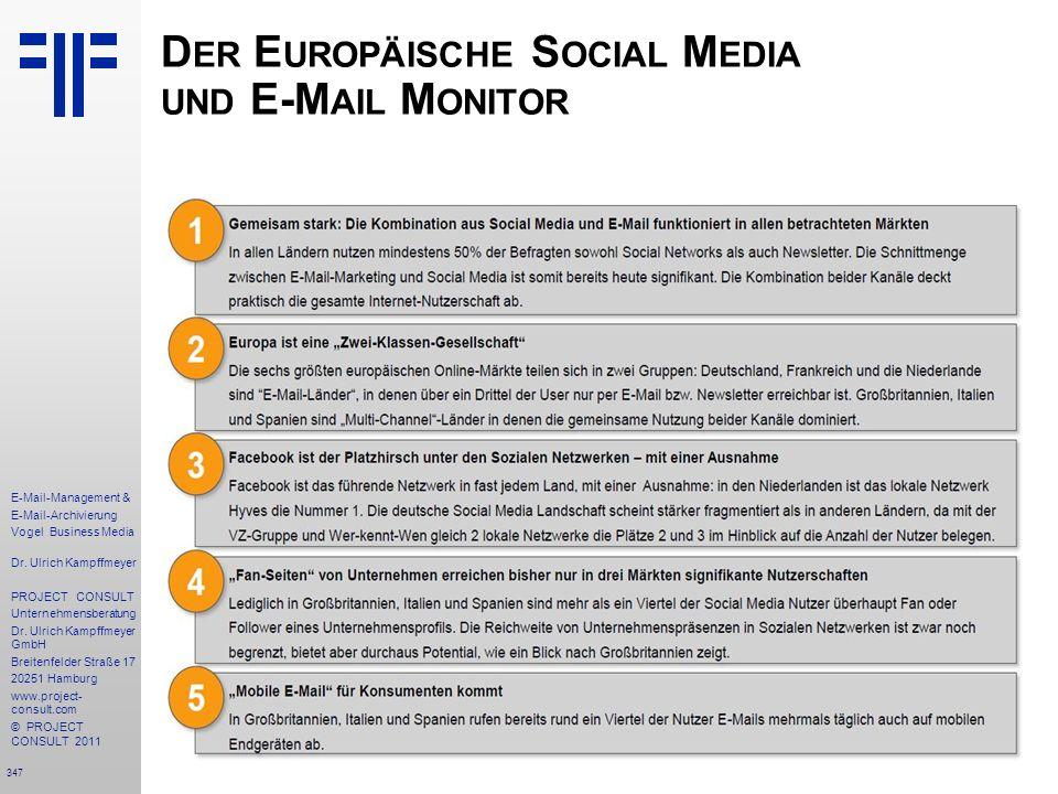 Der Europäische Social Media und E-Mail Monitor