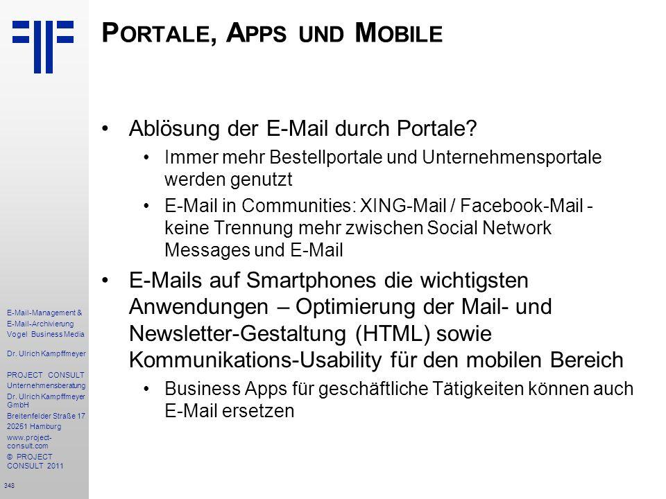 Portale, Apps und Mobile