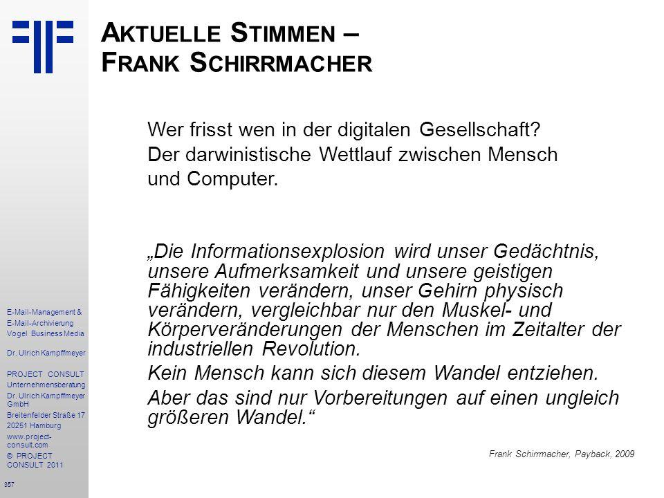 Aktuelle Stimmen – Frank Schirrmacher