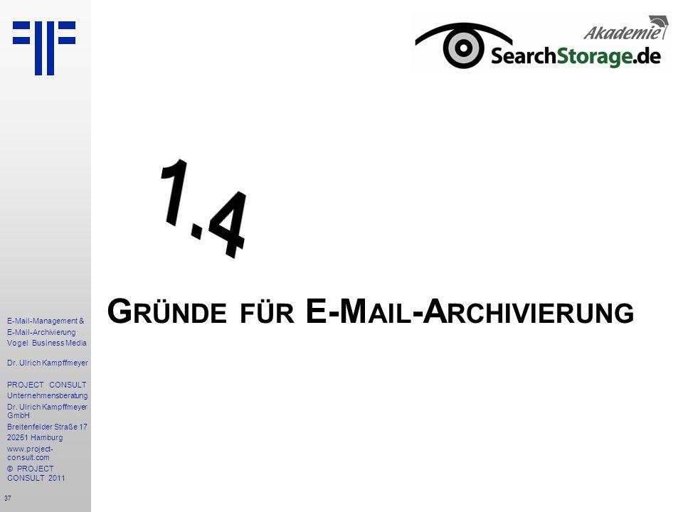 Gründe für E-Mail-Archivierung