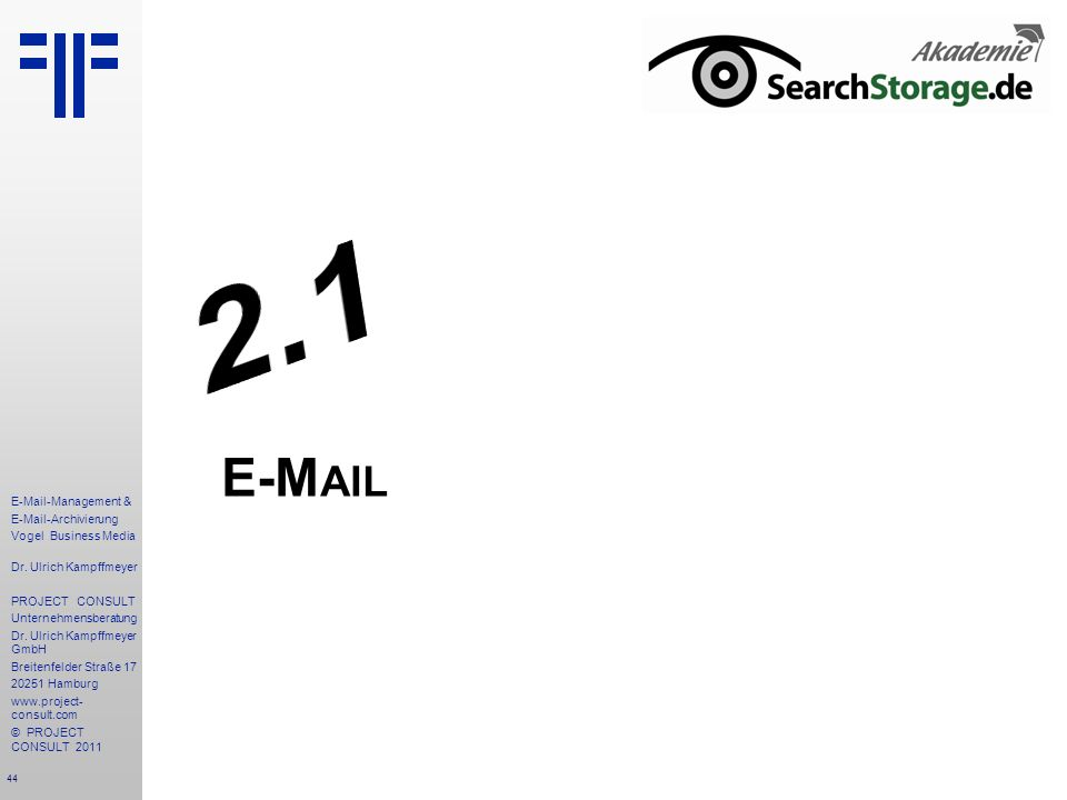 2.1 E-Mail