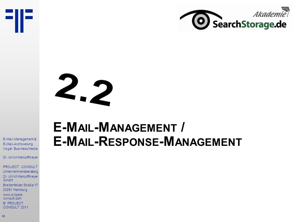 E-Mail-Management / E-Mail-Response-Management