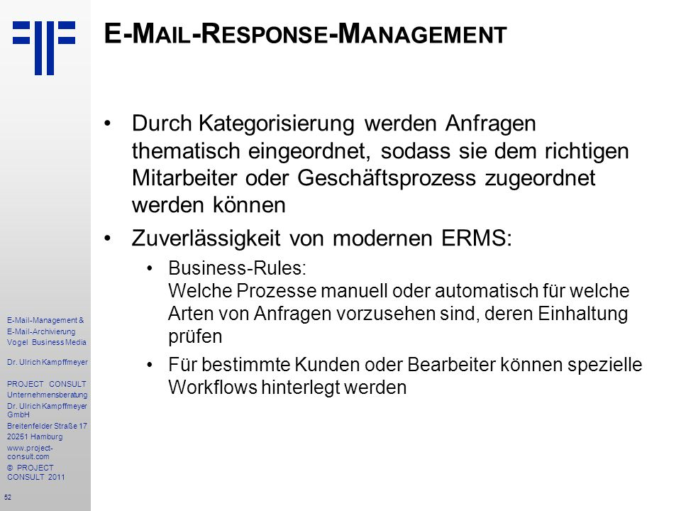E-Mail-Response-Management