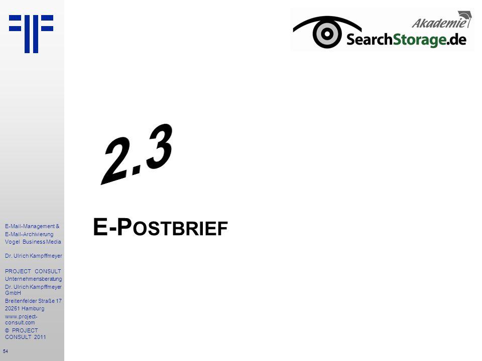 2.3 E-Postbrief
