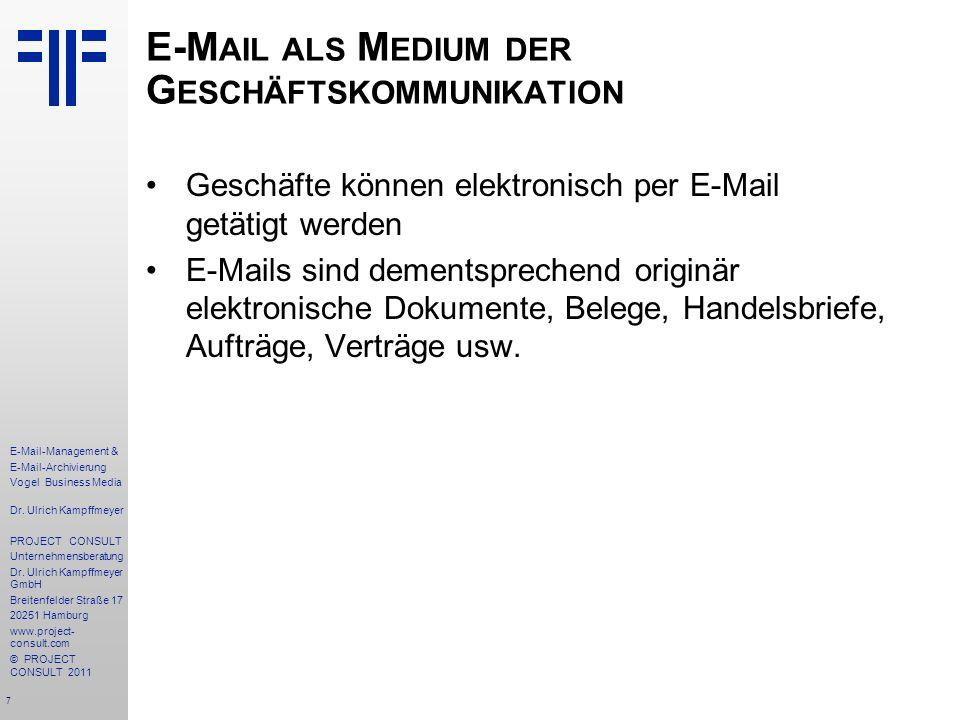 E-Mail als Medium der Geschäftskommunikation