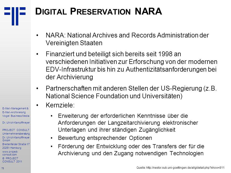 Digital Preservation NARA