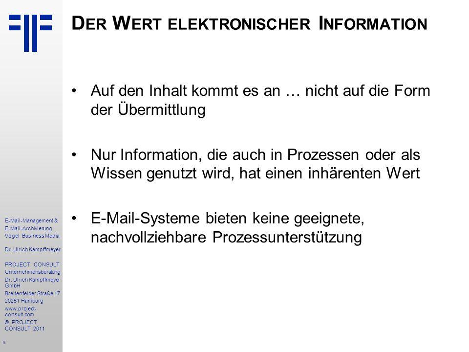 Der Wert elektronischer Information